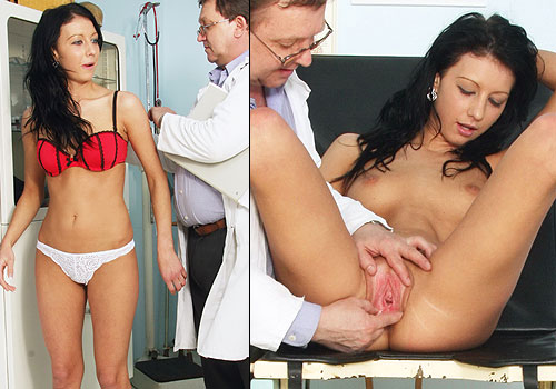 18 years Gabina GYNO exam porn video