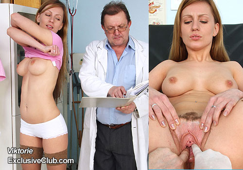 Hot blonde gyno porn and ob-gyn inspection